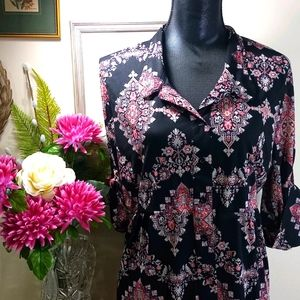 Style & Co Fitted Spring Blouse XL